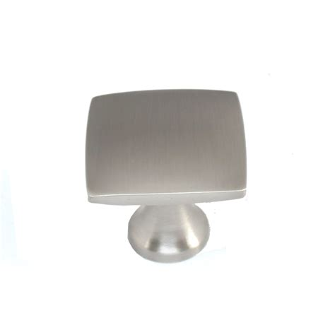 brushed nickel cabinet knobs shop allen roth 1 4 in brushed satin nickel square