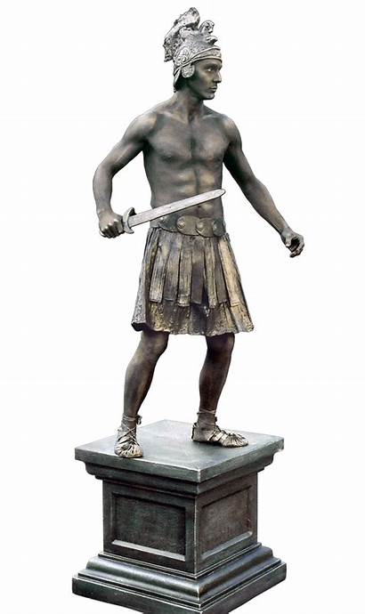 Warrior Living Statue Roman Bronze Greek Classic