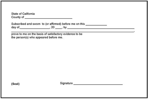 notary signature block template notary signature exle notarized document format template sle notarized statementsle