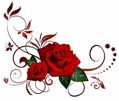Transparent Roses Border Clip Corner Rose Tattoo