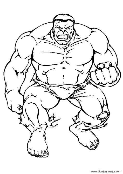 dibujos de hulk 040 Dibujos y juegos para pintar y colorear