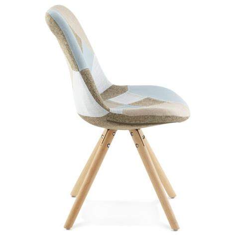 chair patchwork style scandinavian bohemian fabric blue
