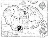 Treasure Map Coloring Pages Europe Printable Pirate Getcolorings Getdrawings sketch template
