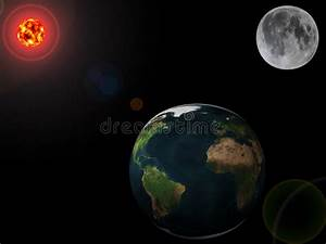 Planets - Earth, Moon And Sun Stock Illustration ...