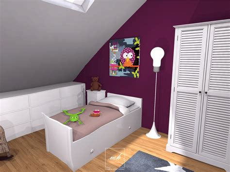 une chambre beautiful idee chambre bebe mansardee 2 photos design