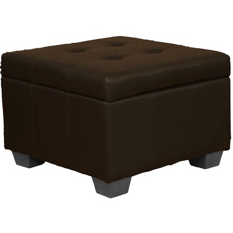 Padded Ottoman - 24 quot x 24 quot x 18 quot high tufted padded hinged storage ottoman