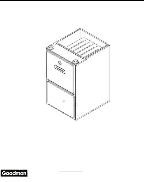 Goodman Mfg Furnace Gmsbxa User Guide Manualsonline