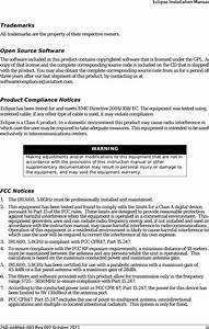 Aviat Networks Iru600lb2 Eclipse Iru600v2 User Manual