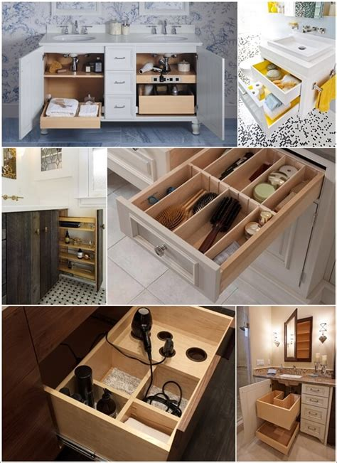 clever bathroom vanity storage ideas