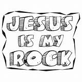 Rock Clipart Solid Jesus Clip Religious Coloring God Cliparts Advertisement Library Clipground sketch template