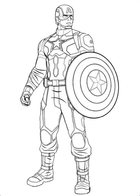 captain america coloring page  printable coloring pages  kids