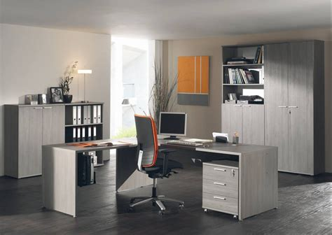 ensemble bureau ensemble de bureau contemporain coloris bouleau gris alrun