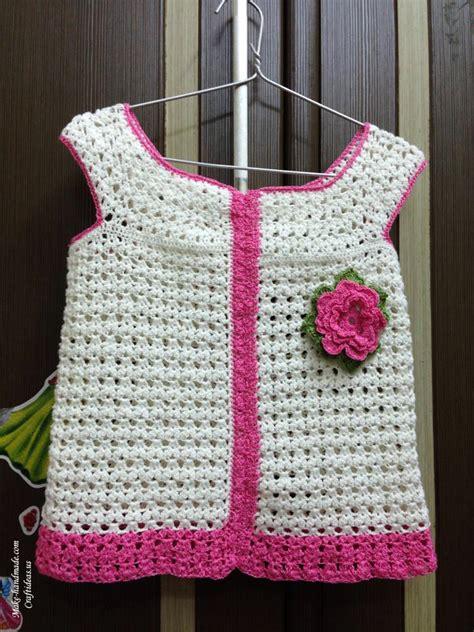 crochet baby summer top  kids craft ideas