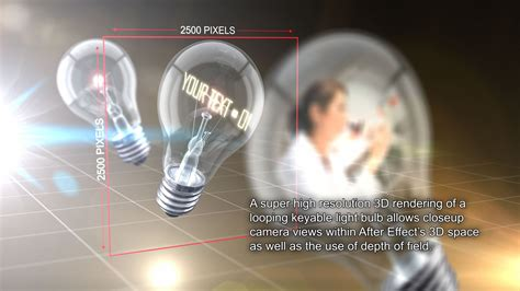 Illuminating Innovation Light Bulb After Effects Template