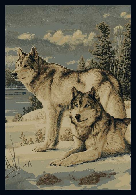 wolf area rugs shop  log homes