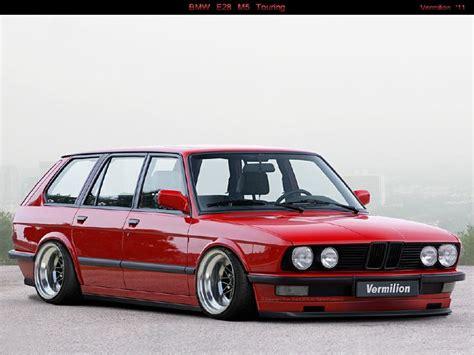 bmw m5 slammed bmw e28 m5 touring red slammed what i like pinterest