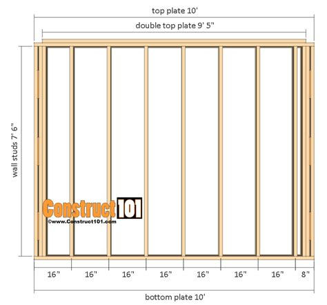 10x12 shed 10x10 shed plans gambrel shed construct101