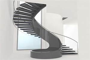 Curved Staircase and Stairs A Loose Spiral in Form and Style