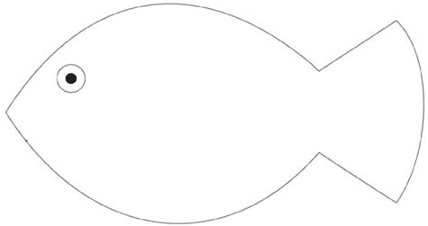 fish shape template modern outline picture of fish outline fish 27449