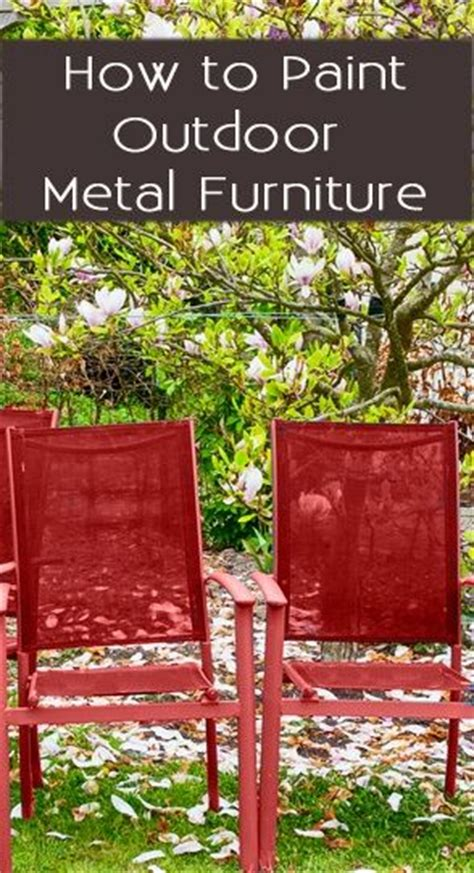 how to paint outdoor metal furniture for the home
