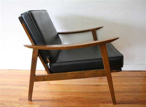 mid century modern hans wegner style arm lounge chairs