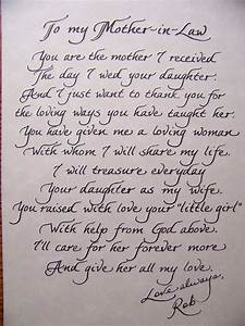 Poem to in laws on wedding day wedding pinterest for Letter to mother of the bride