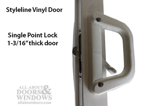milgard v 2 latch locking handle 1 3 16 thick door
