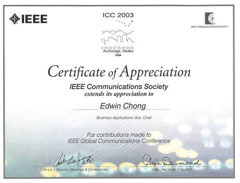selected awards  honors  edwin chong