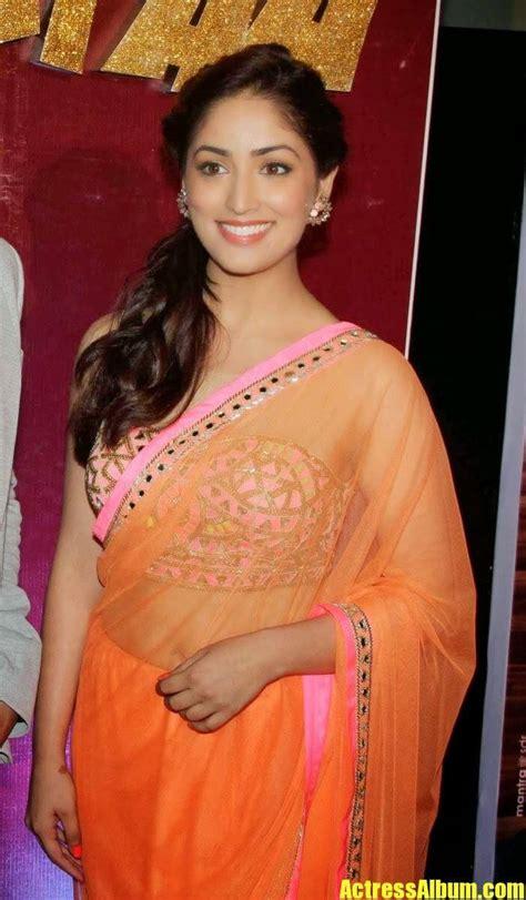 yami gautam bollywood actress latest saree stills