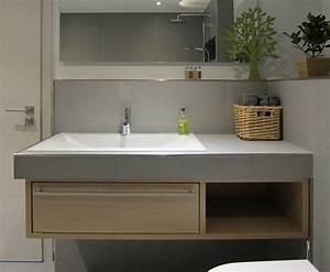 Waschbecken Mit Holzplatte : waschtisch im g stebad mit offener dusche modern ~ Michelbontemps.com Haus und Dekorationen