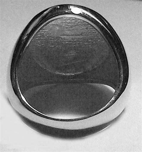 monogram gold signet ring  monogrammed
