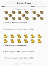 math division worksheets  primary math students  home