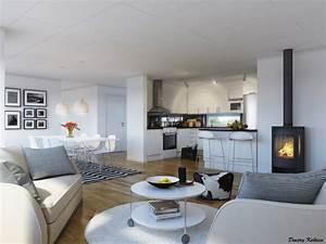 salon a manger meilleures images d39inspiration pour With deco cuisine avec salon salle À manger moderne