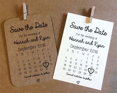 Personalised Magnetic Save the Date cards Rustic Shabby