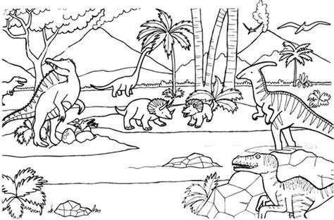 dinosaurios dibujo  colorear  imprimir