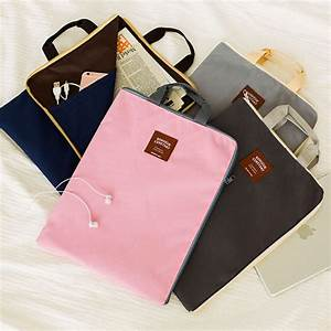 1pcs korea zipper multi functional multi layer a4 oxford With cloth document holder