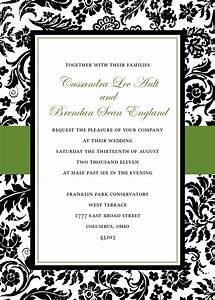 6 best images of printable damask borders for invitations With damask wedding invitations template free