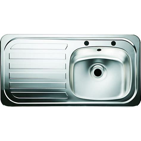 wickes single bowl kitchen sink stainless steeel lh