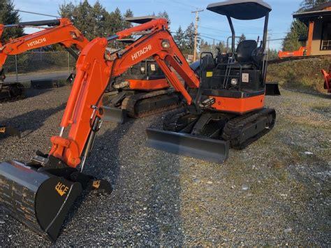 hitachi zxu  mini excavator harbour city equipment