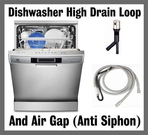 Dishwasher High Drain Loop Air Gap Anti Siphon