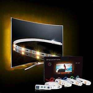 Led Hintergrundbeleuchtung Tv Nachrüsten : led strip tv led hintergrundbeleuchtung rgb 2m led streifen f r 40 bis 60 hdtv usb led tv ~ Watch28wear.com Haus und Dekorationen