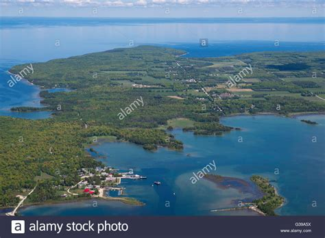 door county washington island aerial view of washington island door county wisconsin