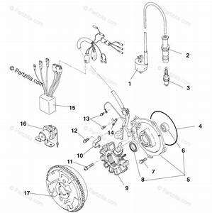 Polaris Atv 1995 Oem Parts Diagram For Magneto Assembly