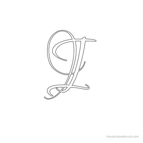 calligraphy letter i calligraphy alphabet stencils freealphabetstencils 16415