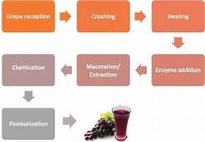Simplified Grape Juice Flow Diagram Of Hot Pressing