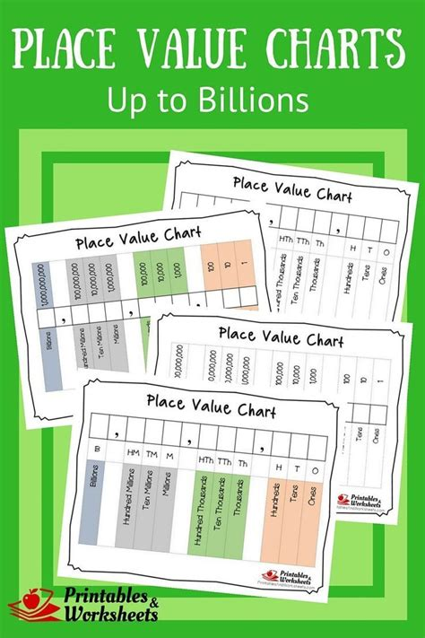 place values printable place values printable