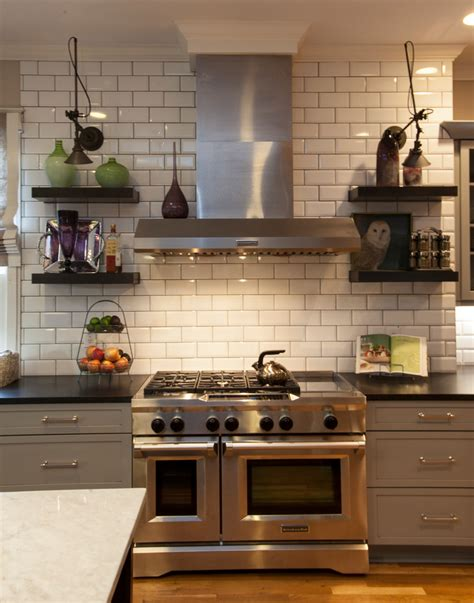 traditional kitchen backsplash ideas splashy white subway tile backsplash convention atlanta