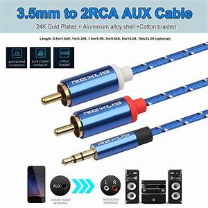 2020 Rca 3 5mm Jack Cable 2 Rca Male To 3 5 Mm Male Audio