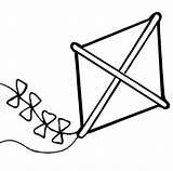 Kite Coloring Kites Pages Summer Kindergarten Play Clipart Sky Sheet Preschool Coloringsky Opulent Clipartmag Children sketch template