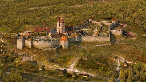 reconstruction castle  eger hungary